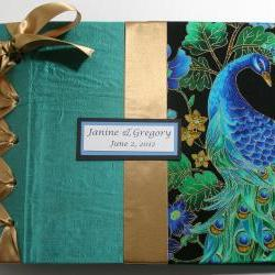 Wedding Guestbook/Album - Peacock Design Theme